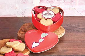 Caja Corazón Galletas Mantequilla